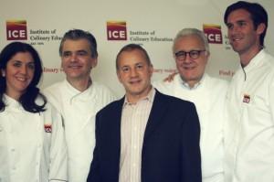 Me, Sylvain Portay, Rick Smilow, Alain Ducasse and James Briscione