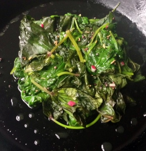 Cooked Sweet Potato Greens