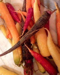 Amazing carrots of different colors from Priapi Gardens